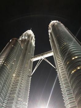 Petronas Tower at night.